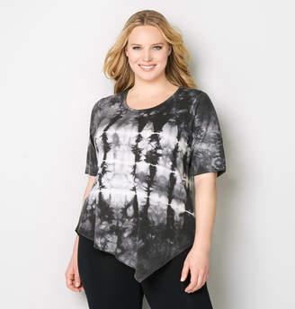 Avenue Tie Dye Asymmetrical Sweatshirt