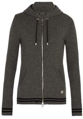 Balmain Zip Through Cashmere Sweater - Mens - Light Grey