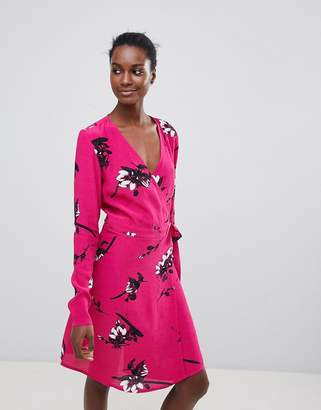 Vila Floral Wrap Dress