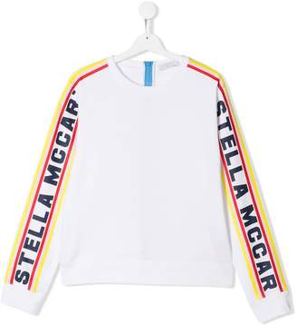 Stella McCartney TEEN logo sleeve sweatshirt