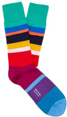 Paul Smith Mike Multicolour Striped Cotton Blend Socks - Mens - Multi