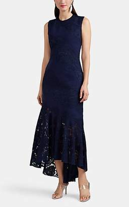 J. Mendel Women's Lace-Inset Silk Crepe Cocktail Dress - Navy