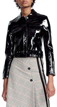 Maje Bliza Patent Leather Jacket