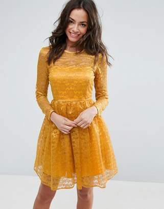 Asos Pretty Lace Mini Prom Dress
