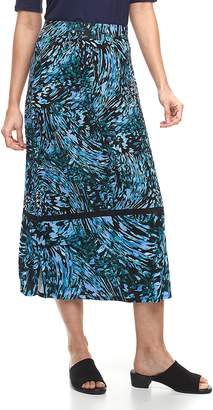 Dana Buchman Women's Side-Slit Midi Skirt