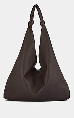 The Row Women's Bindle Two Double-Knot Leather Shoulder Bag - Dk. brown