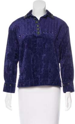 Co RRL & Crushed Velvet Long Sleeve Top w/ Tags