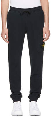 Stone Island Navy Logo Badge Lounge Pants