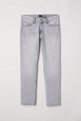 H&M Relaxed Jeans - Light gray washed out - Men
