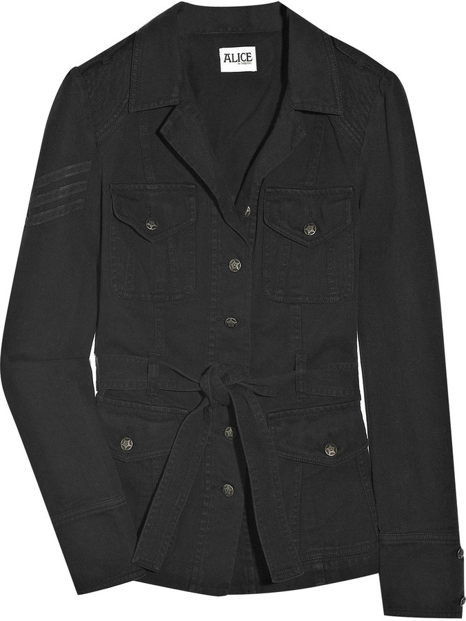 ALICE by Temperley Sand cotton-twill jacket