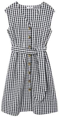 MANGO Bow cotton dress
