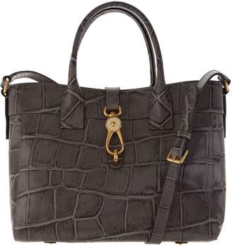 Dooney & Bourke Croco Embossed Leather Large Amelia Tote Handbag