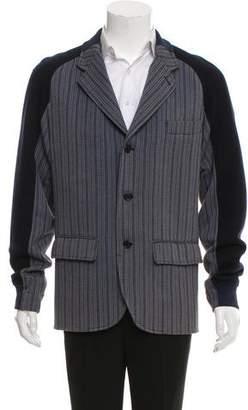 Fendi Deconstructed Striped Jacket