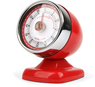 Kikkerland Red Vintage Streamline Kitchen Timer