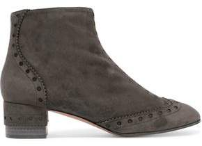 Chloé Perry Perforated Suede Ankle Boots