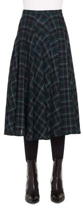 Akris Punto Brit Check Midi Skirt