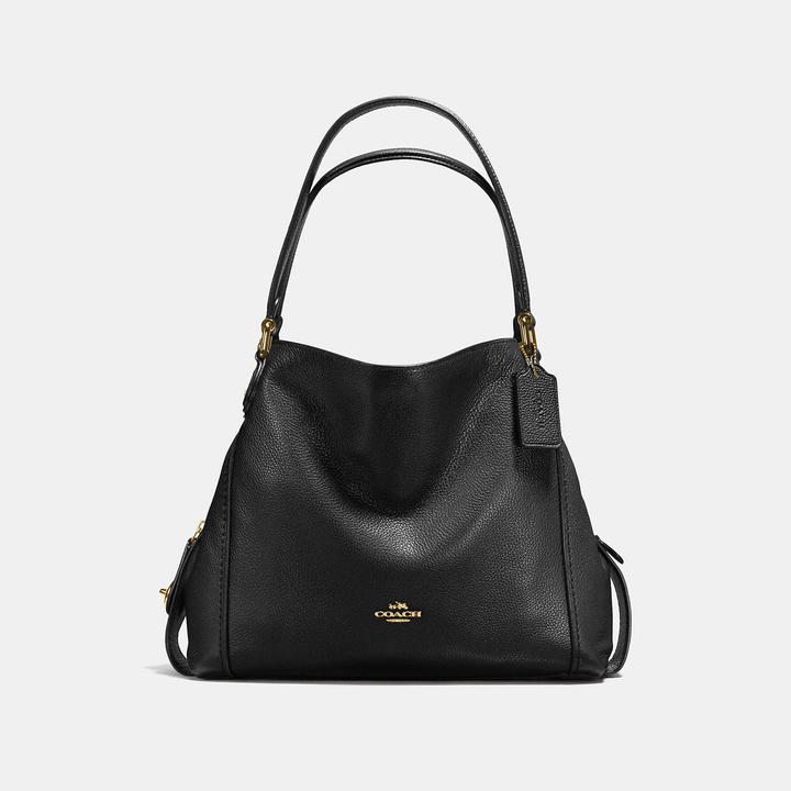 COACH Coach Edie Shoulder Bag 31 In Polished Pebble Leather