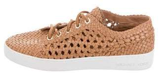 Michael Kors Michael Woven Leather Sneakers