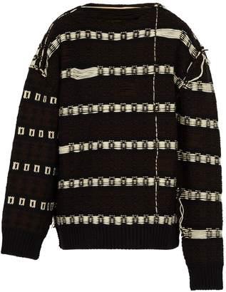 Calvin Klein Float-jacquard wool-blend sweater