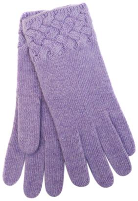 Basket Weave Cashmere Gloves $91 thestylecure.com