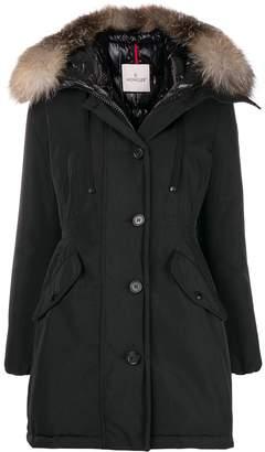 Moncler fox fur-trimmed coat