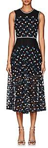 Cynthia Rowley WOMEN'S FLORAL-EMBROIDERED MESH MIDI-DRESS SIZE 10