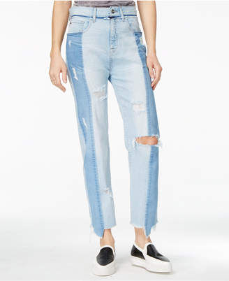 M1858 Frida Ripped Light Wash Straight-Leg Jeans, a Macy's Exclusive Style $89 thestylecure.com
