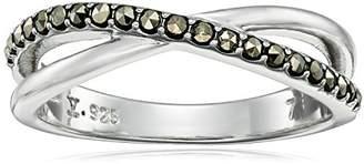 Judith Jack Classics Sterling /Swarovski Marcasite Ring