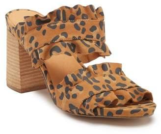 Free People Rosie Ruffle Heel Mule Sandal
