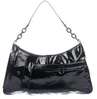 Tod's Patent Leather Zip Shoulder Bag Black Patent Leather Zip Shoulder Bag