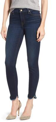 7 For All Mankind Scallop Hem Ankle Skinny Jeans
