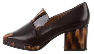 Dries Van Noten Square-Toe Patent Leather Pumps