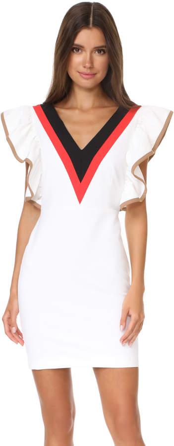 MSGM Ruffle V Neck Dress