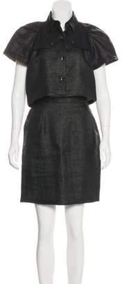 Christian Siriano Basketweave Skirt Set