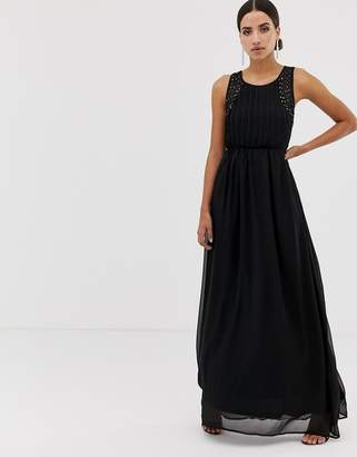 AX Paris tulle maxi dress with embellished detail