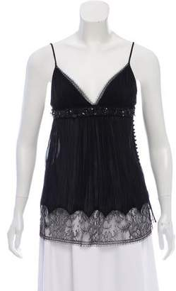 Kaufman Franco KAUFMANFRANCO Embellished Sleeveless Top