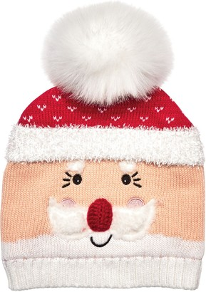 b653ed38500 Co San Diego Hat Women s Santa Beanie with Faux-Fur Pom-Pom