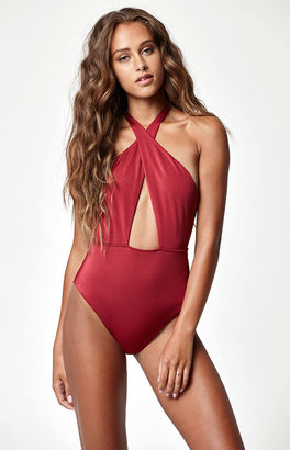 LA Hearts Halter One Piece Swimsuit $39.95 thestylecure.com