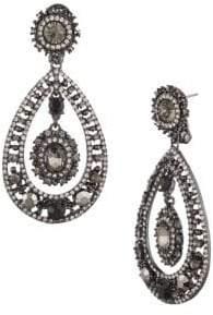 Marchesa Jet & Crystal Orbital Chandelier Earrings