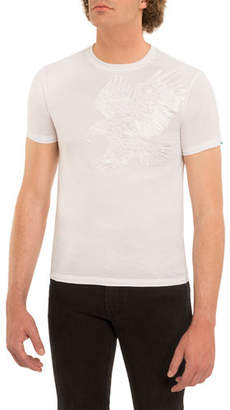 Stefano Ricci Embroidered Eagle Crewneck T-Shirt