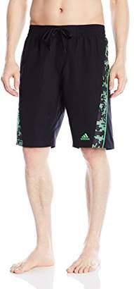 "adidas Men's Camo Grid 9"" Inseam Volley Swim Trunk"