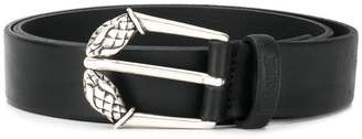 Just Cavalli engraved buckle belt