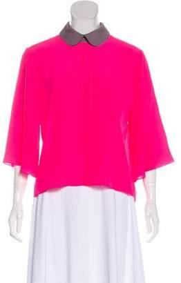 Roksanda Silk Quarter-Sleeve Blouse