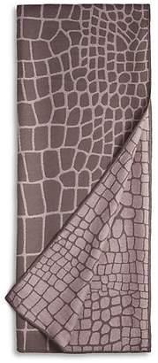 L'OBJET Woven Crocodile Wool Throw