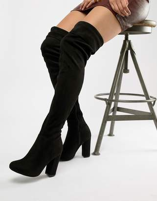 ea3319c718a Truffle Collection Block Heel Over Knee Boots