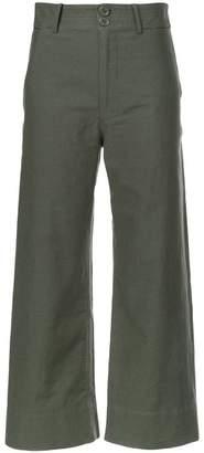 Apiece Apart wide leg cropped trousers