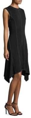 Donna Karan Asymmetrical Knee-Length Dress