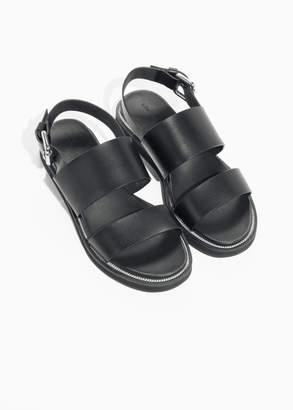 Raw Edge Leather Sandals