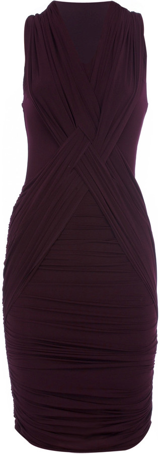 Bodyamr Ruched mini dress