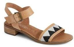 Toms Camilia Leather Ankle-Strap Sandals